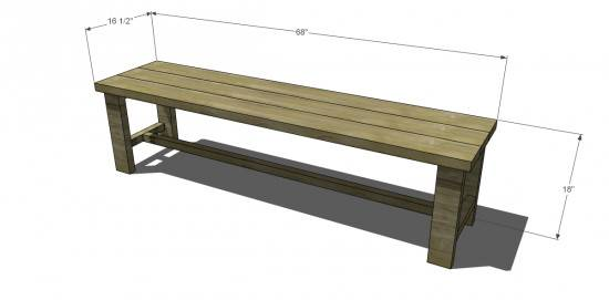 Build Dining Bench Seat