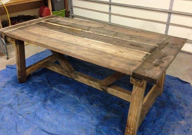 Build Dining Room Table Large Beautiful
