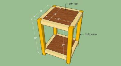 Build End Table Howtospecialist