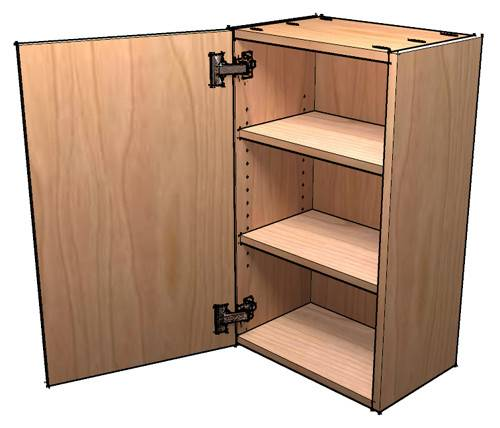 Build Frameless Wall Cabinets