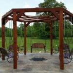 Build Hexagonal Swing Sunken Fire Pit Diy
