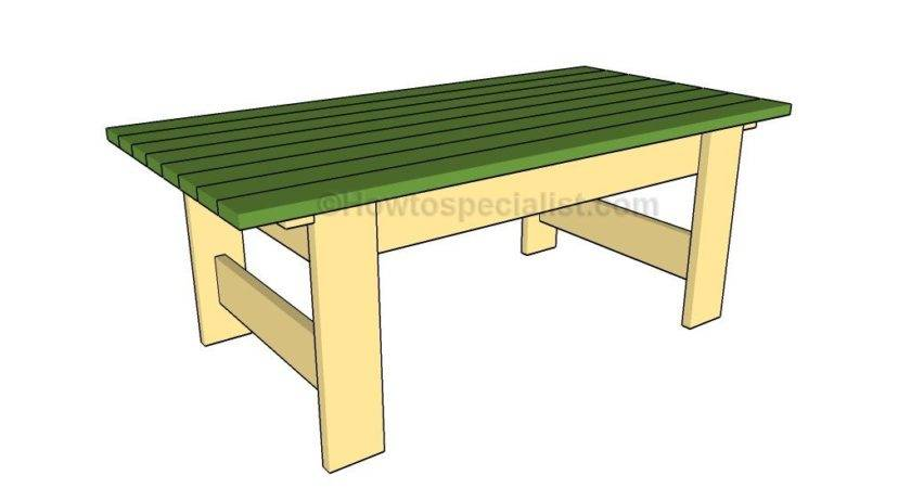 Build Outdoor Table Howtospecialist
