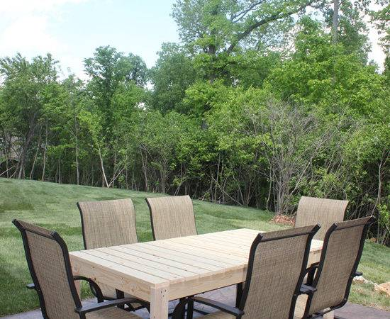 Build Patio Dining Table Nest Less