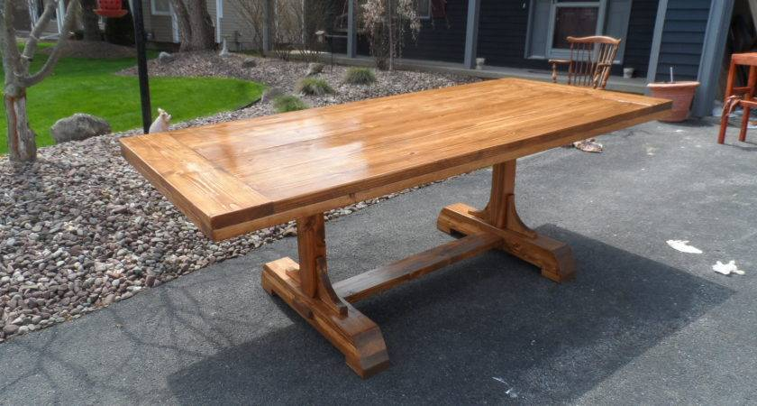 Build Plans Make Your Own Dining Table Wooden Oak