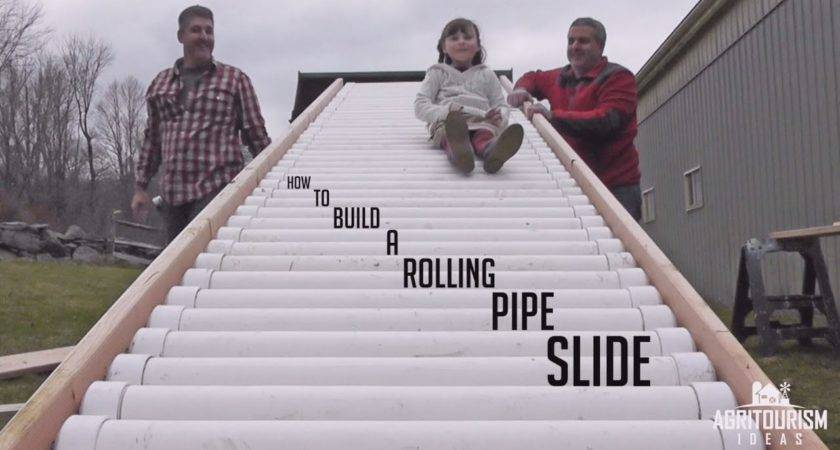 Build Rolling Pipe Slide Youtube