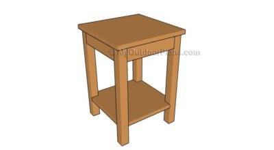 Build Side Table Outdoor Plans Diy Shed