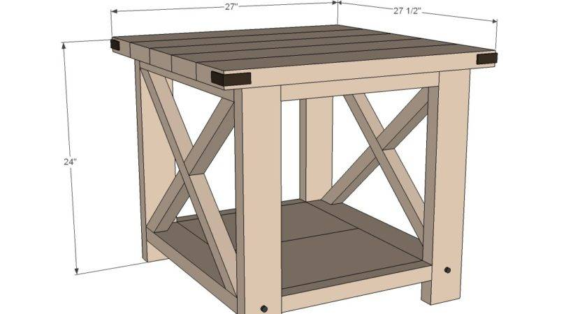 Build Small Wooden End Table Woodworking