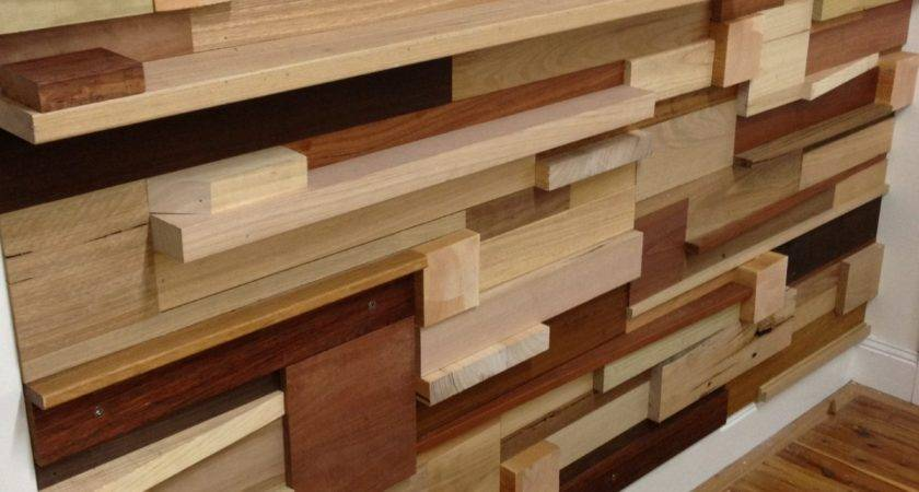 Build Stack Wood Wall Off Cuts Left Over