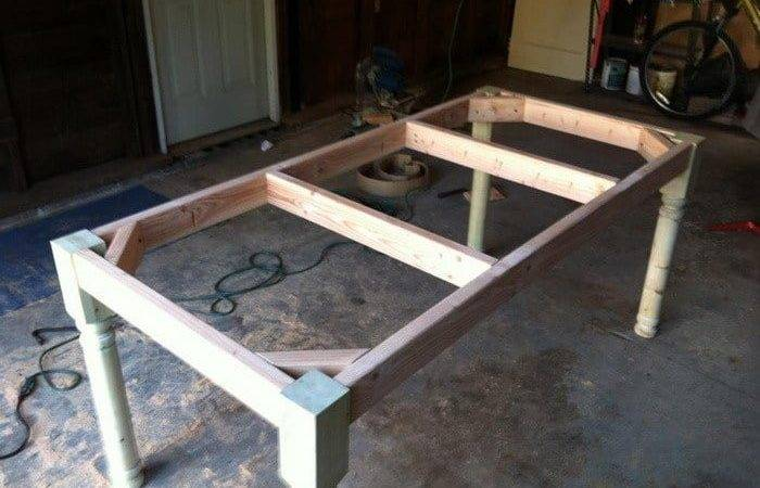 Build Vintage Style Dining Room Table Yourself
