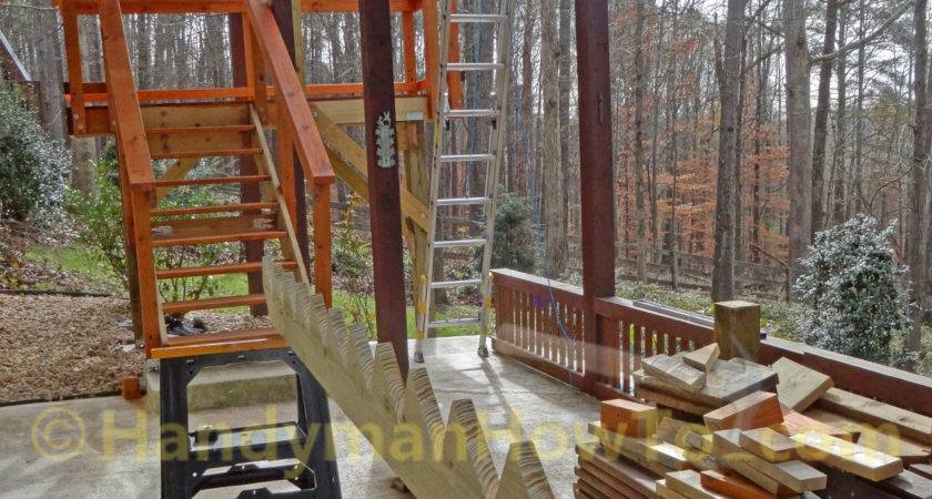 Build Wood Deck Stairs Layout Solid Sawn Stringers