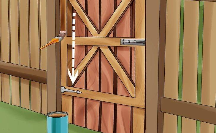 Build Wooden Gate Steps Wikihow
