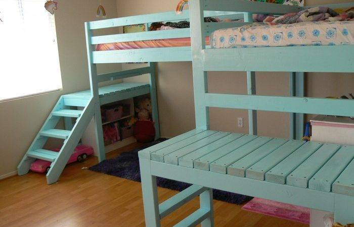 Build Your Kids Loft Bed Stairs Projects Obn