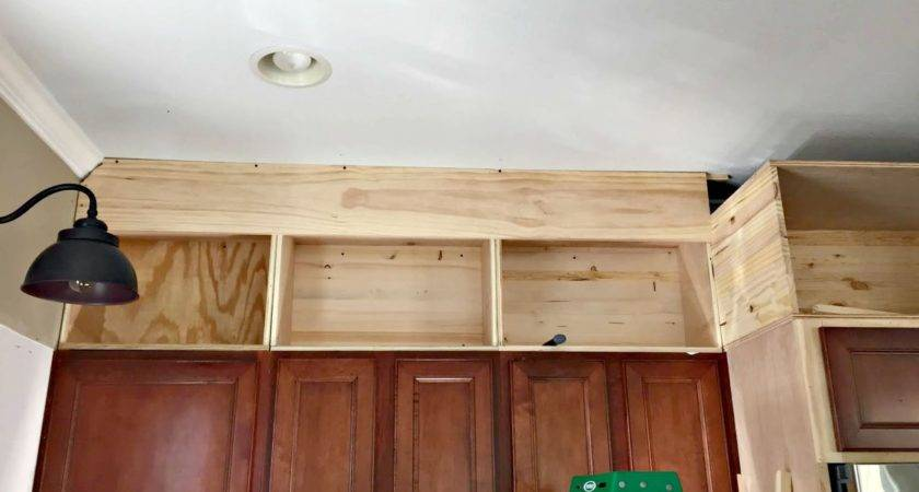 Building Cabinets Ceiling Thrifty Decor Chick