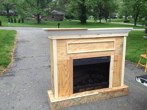Building Custom Electric Fireplace Surround Planitdiy