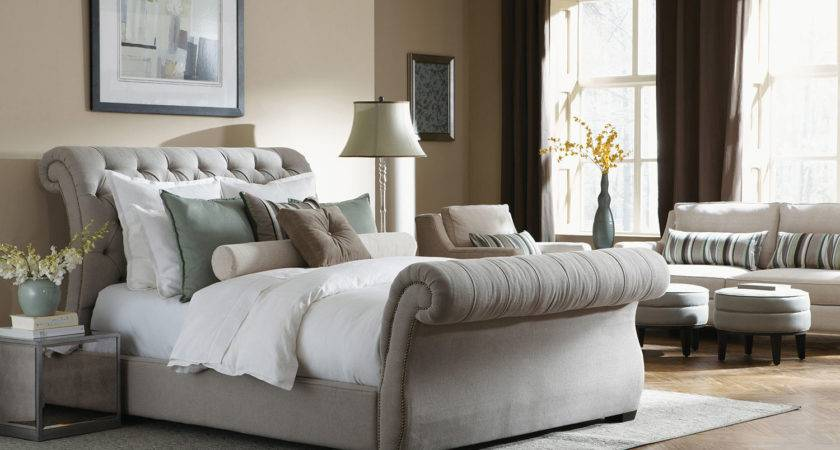 Building Grey Tufted Headboard Bed Also Padded Modern