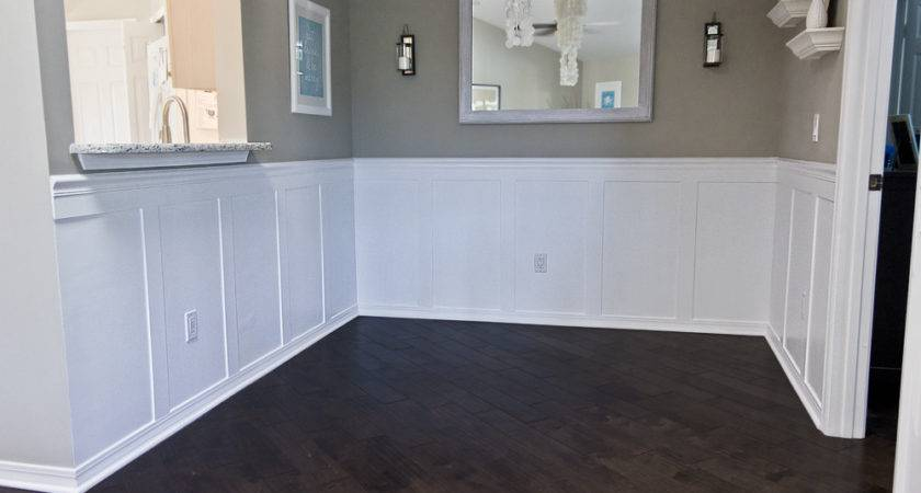 Building Home Remodeling Dining Room Wainscoting Done