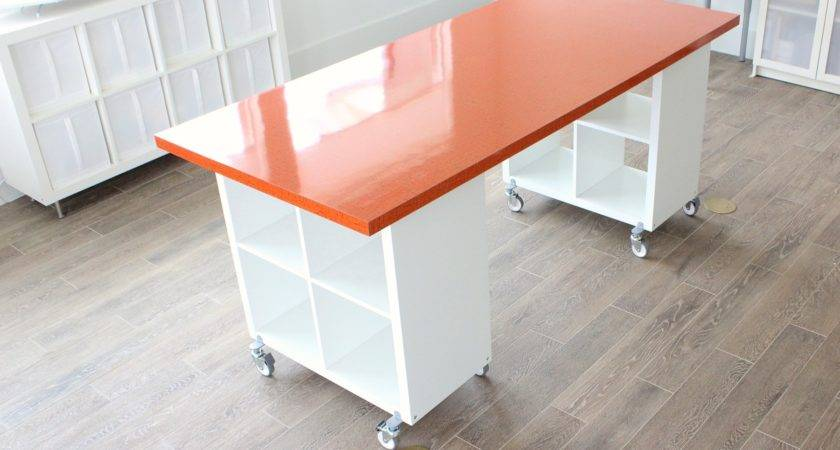 Building New Home Formica Craft Table Made Everyday