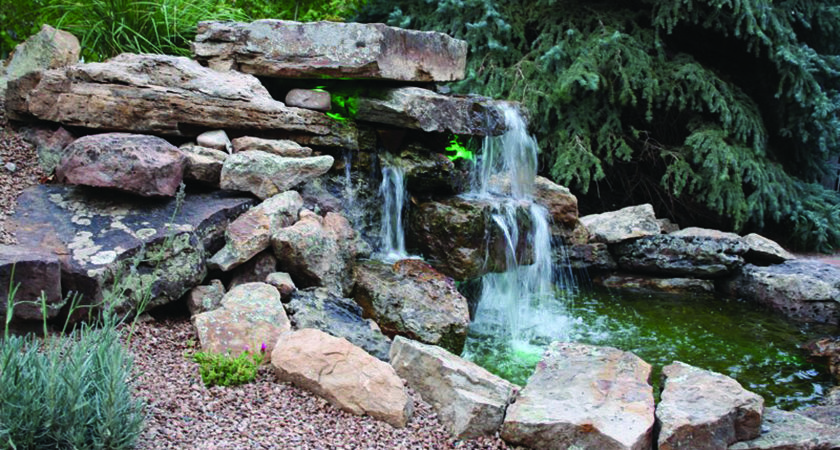 Building Waterfall Your Yard Roaring Fork Lifestyle