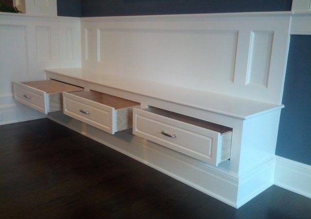 Built Bench Drawers
