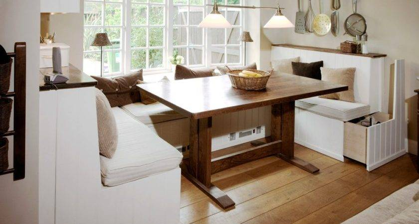 Built Bench Seat Kitchen Contemporary