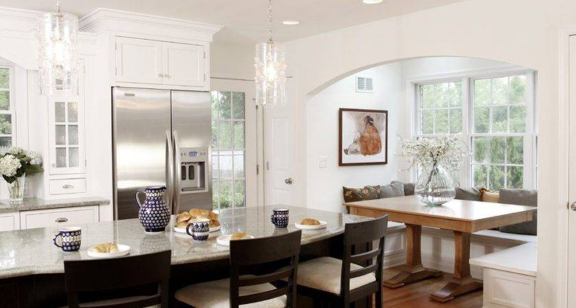 Built Kitchen Bench Seating Dining Room Contemporary