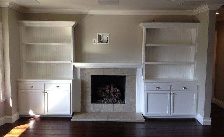 Built Shelves Around Fireplace Photos