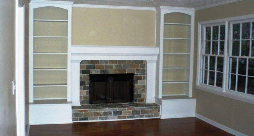 Built Shelves Around Fireplace Quotes