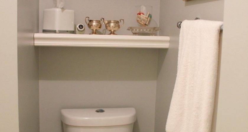Built Shelving Over Toilet Bathroom Made Wooden