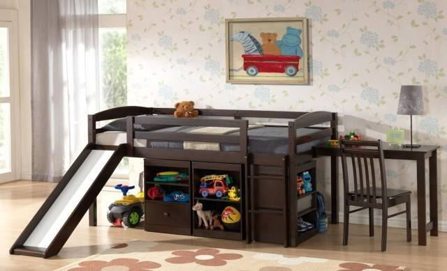 Bunk Bed Stairs Slide Beds