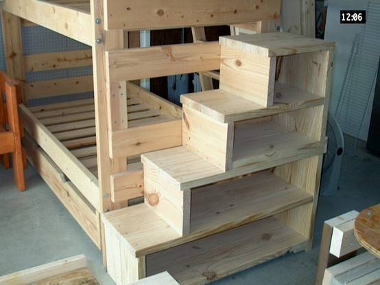 Bunk Bed Stairs Slide Woodworking Plans