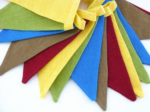 Bunting Fabric Flag Banner Pennant Nursery Porch Patio