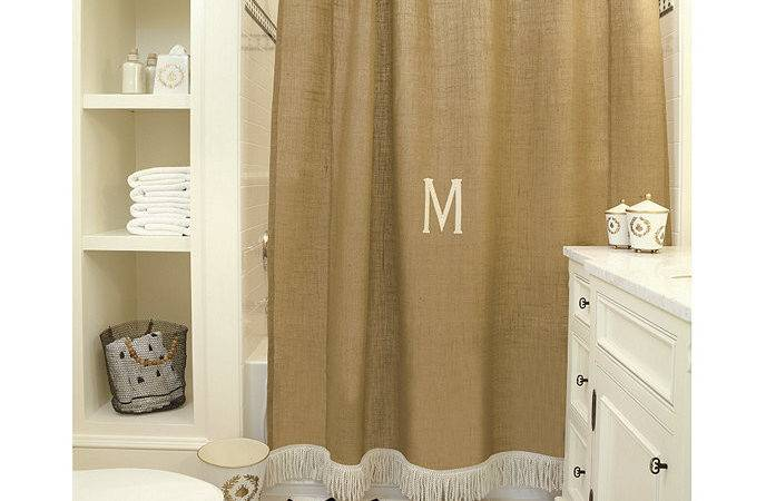 Burlap Shower Curtain Bullion Fringe Ballard Designs