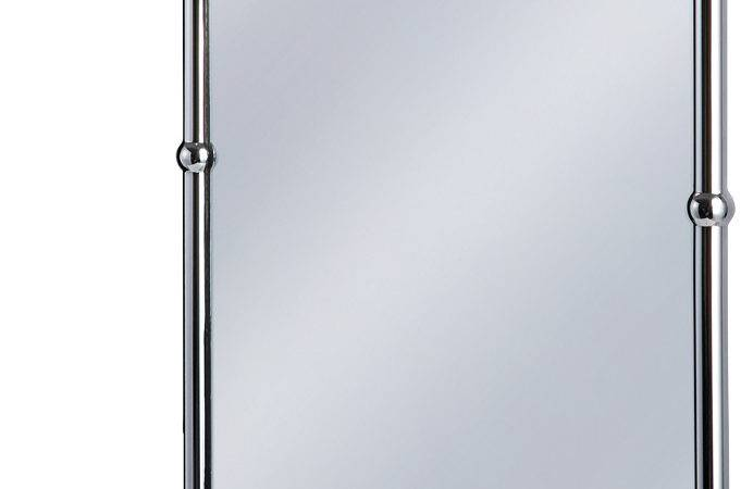 Burlington Bathrooms Chrome Rectangular Mirror Shelf