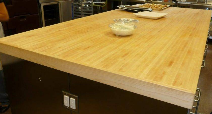 Butcher Block Table Counter Top Made Torsion Box