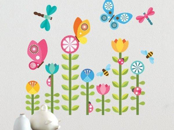 Butterflies Fabric Wall Decal Petit Collage