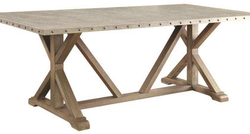 Buy Webber Transitional Style Dining Table Metal Top