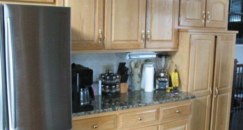 Cabinet Refinishing Before After