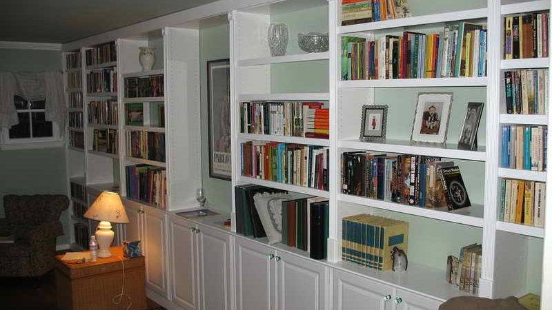 Cabinet Shelving Large Diy Built Bookshelves