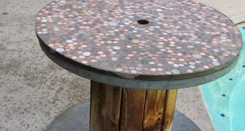 Cable Spool Table Pinterest