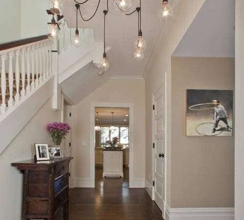 Cafe Lait Paint Color Contemporary Entrance Foyer