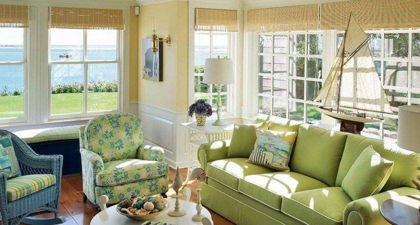 Cape Cod Style Decorating Cream Wall Paint Color