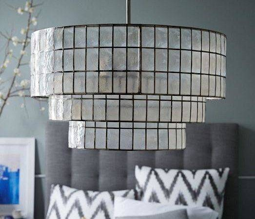 Capiz Tiered Chandelier West Elm