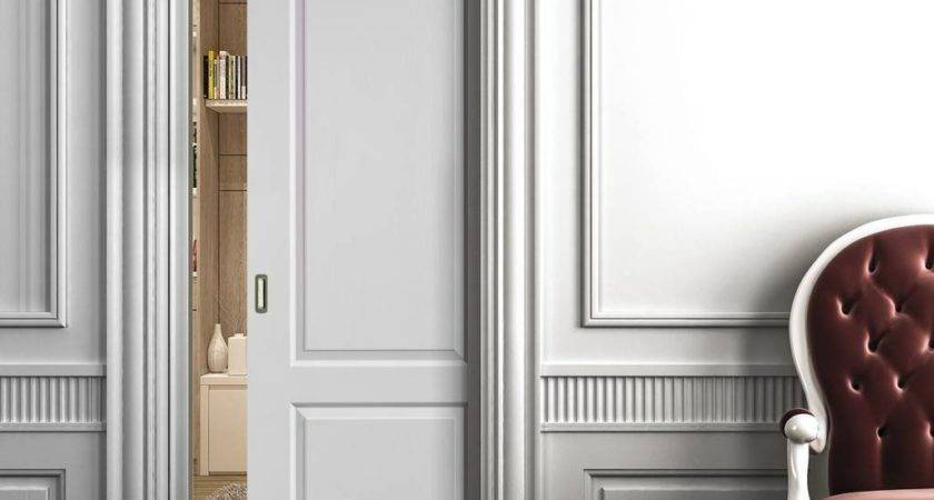 Caprice White Single Pocket Door Sliding Systems
