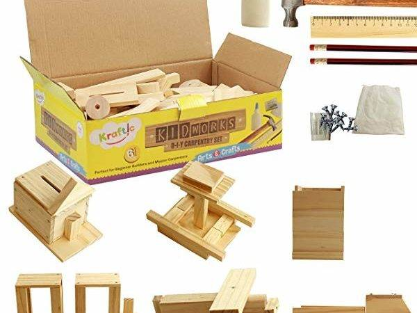 Carpentry Kits Kids Red Toolbox Build Working