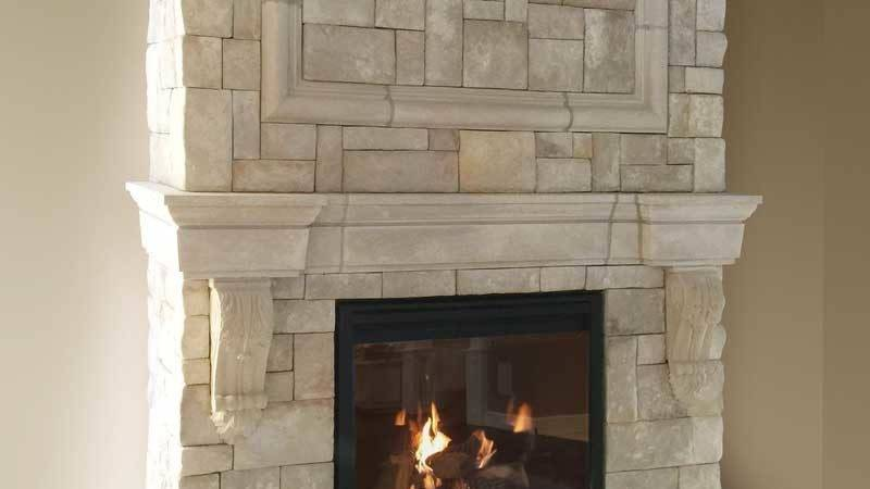 Cast Fireplace Mantels Integrate Veneer Stone New