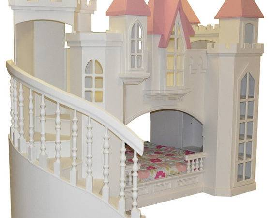 Castle Bed Wraparound Staircase Traditional Kids