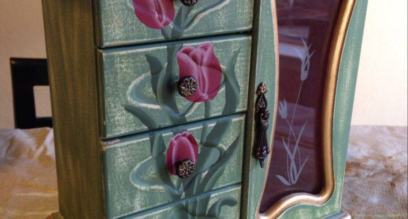 Cece Caldwell Paint Tutorial Painted Jewelry Cabinet