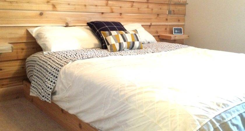 Cedar Planked Headboard Wall Guest Room Simply Swider