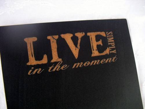 Chalkboard Sign Easel Live Simply Item