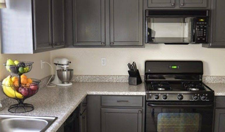 Charcoal Colored Kitchen Cabinets